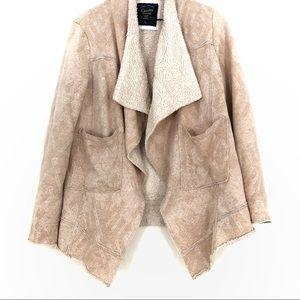 Cavalini | Pink Sherpa Lined Cardigan/Jacket